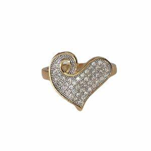 Swarovski Crystal Heart 18K Gold Filled Ring!